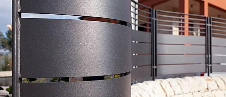 Carpenteria metallica infissi alluminio centro for Oscuranti per recinzioni