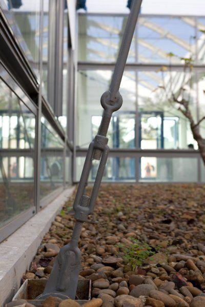 Copertura in acciaio e vetro per vivai Centro SEIA