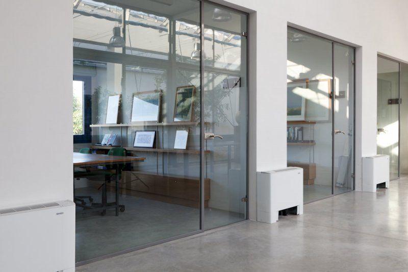 Vetrate interne in acciaio per uffici