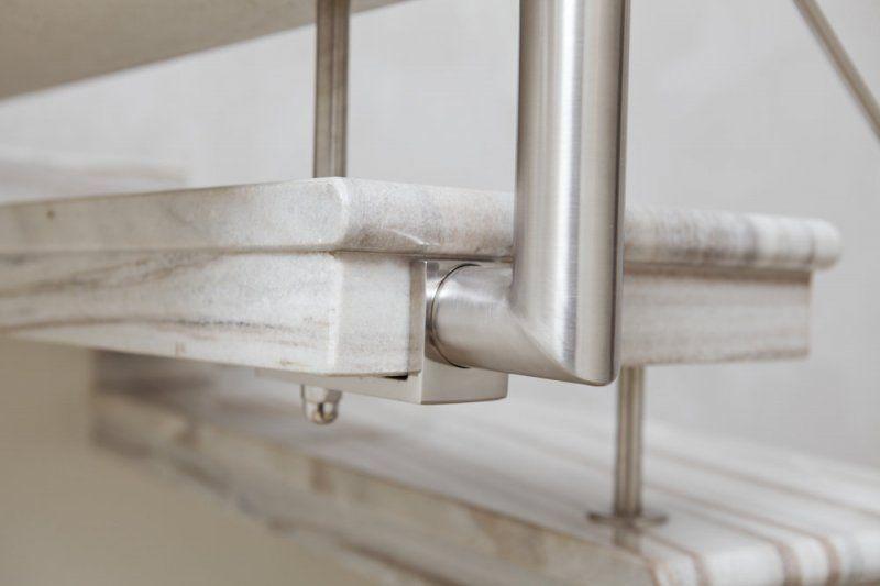 Ringhiera in acciaio per scala interna